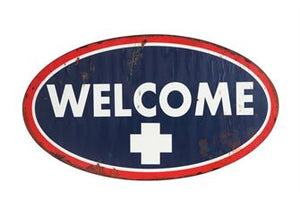 "Metal Wall ""Welcome"" Sign"