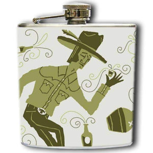 Western Pastime Flask