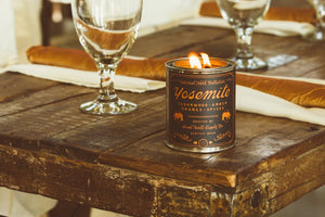 Yosemite Candle 6 whiskey good well supply six whisky all natural soy wood wick tin