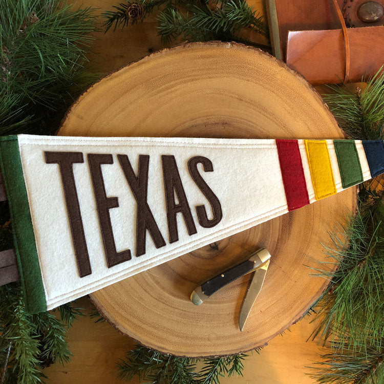 Texas Rockwall Felt Pennant