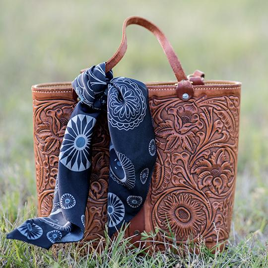 Scarf ~ Navy Concho
