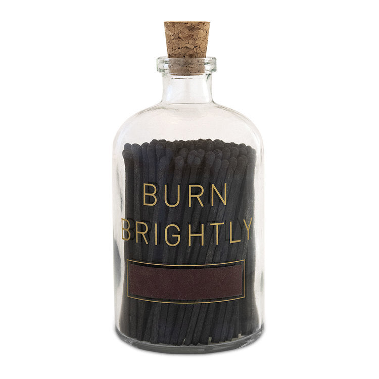 Burn Brightly Matches ~ Large Apothecary Bottle