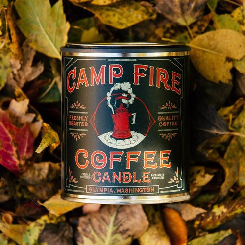 Good and Well Campfire coffee 6 whiskey espresso, cedarwood and sandalwood pint all natural soy