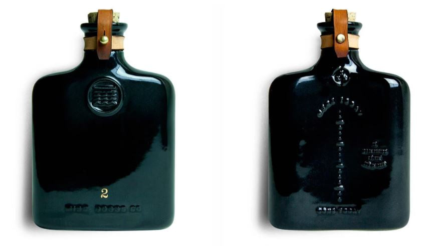Ceramic Flask ~ Ebony or Ivory