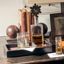 Load image into Gallery viewer, Jan Barboglio Decanter Girasol 6 whiskey six whisky iron glass sun bar
