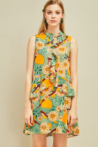Load image into Gallery viewer, Kira Foral Dress