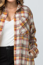 Plaid Tunic Duster