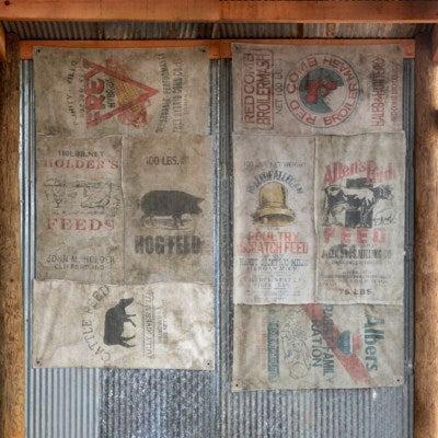 Feed Sack Curtains
