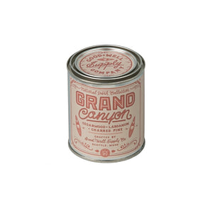 Grand Canyon National Park candle 6 whiskey good well supply collection all natural six whisky soy wood wick tin