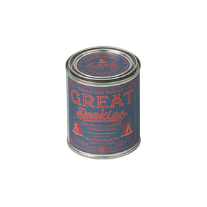 Great Smokies candle National Park Collection 6 whiskey good well supply all natural six whisky wood wick soy tin