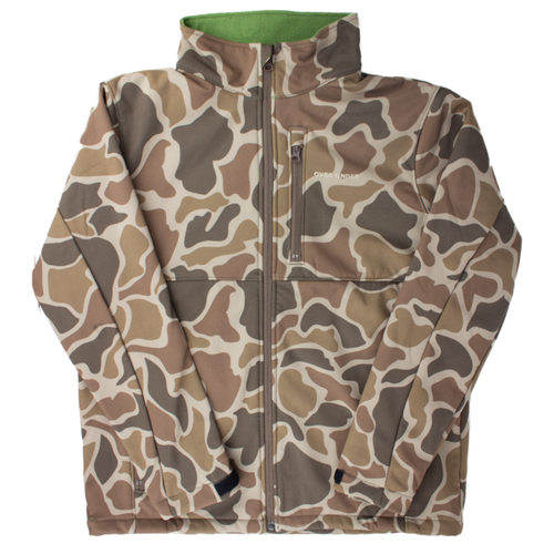 Over Under ~ Duck Camo ~ Hydra Fleece Jacket 6 Whiskey duck blind deer stand hunting fishing six whisky Georgetown