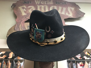 HATS Double D Ranch Hat ~ American Assemblage Felt Hat 6Whiskey