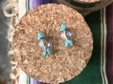 Load image into Gallery viewer, Peyote Bird Designs  Turquoise Arrow Studs