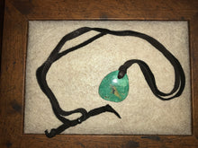 Load image into Gallery viewer, Peyote Bird Designs Turquoise Stone Necklace on Leather