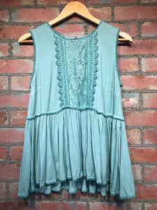 Emerald Sleeveless Peplum Top