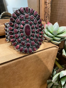 Purple Spiny Oyster Cuff Bracelet