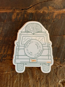 Adventure Bound Truck sticker Sendero Marfa 6Whiskey