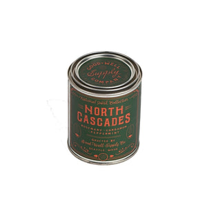 North Cascades National Park candle Collection 6 whiskey good well supply all natural six whisky wood wick soy tin
