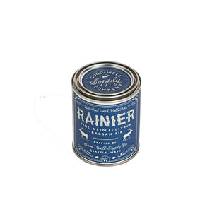 Rainier Candle national park collection 6 whiskey good well supply six whisky all natural tin soy wood wick