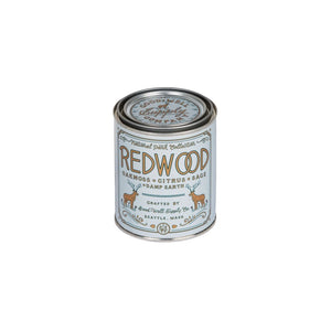 Redwood National park candle collection 6 whiskey good well supply six whisky all natural wood wick tin soy