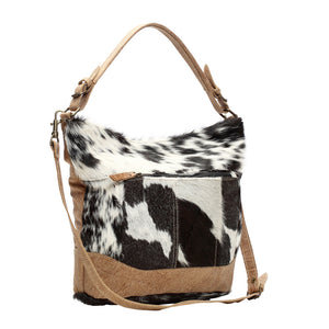Dual Strap Shoulder Cowhide Bag
