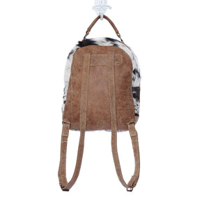 Mini Compact Cowhide Backpack