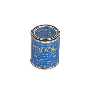 Yellowstone candle national park collection 6 whiskey good well supply all natural six whisky wood wick tin soy