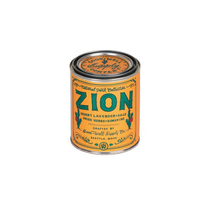 Zion candle National Park Collection 6 whiskey good well supply all natural six whisky wood wick soy tin