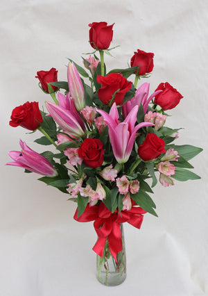 Deluxe Roses and Lilies