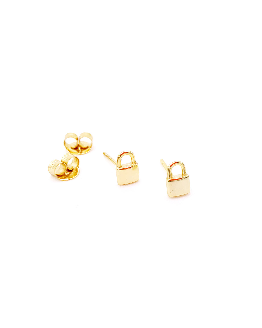 PADLOCK BUTTON EARRINGS