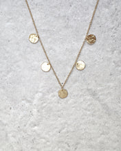 Load image into Gallery viewer, FIVE COIN NECKLACE