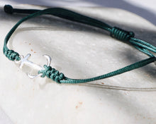 Load image into Gallery viewer, ANCHOR SILVER CORD BRACELET