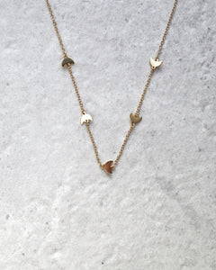 FIVE MOON NECKLACE