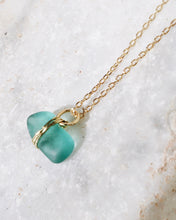 Load image into Gallery viewer, ECO SEA GLASS NECKLACE SKY