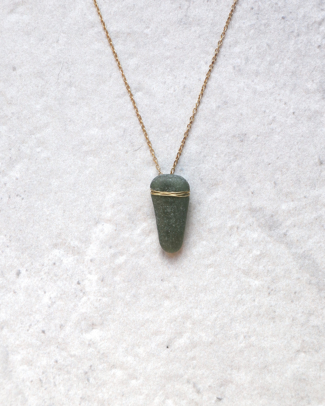 ECO SEA GLASS NECKLACE BOTTLE