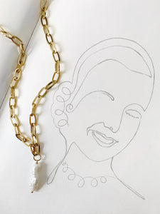 EVITA PEARL CHAIN NECKLACE