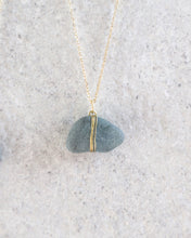 Load image into Gallery viewer, ECO SEA GLASS NECKLACE GREY