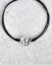 Load image into Gallery viewer, WORLD SILVER CORD BRACELET