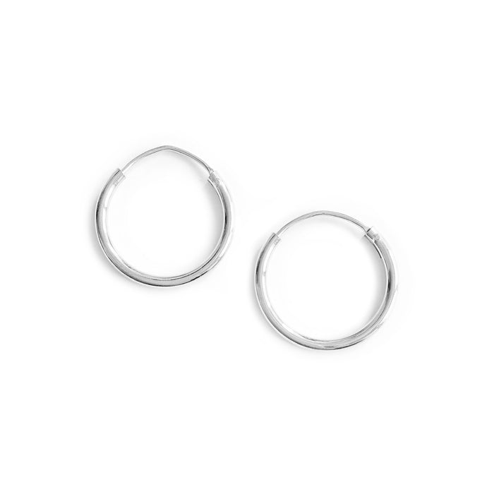 SILVER SIMPLE EARRINGS