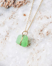 Load image into Gallery viewer, ECO SEA GLASS NECKLACE GREEN
