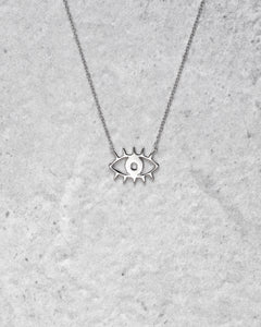 EYE NECKLACE SILVER