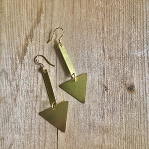 All Signs Point to Yes Triangle Earrings