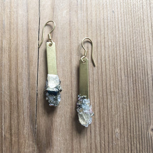 Fairy Crystal Bar Earrings