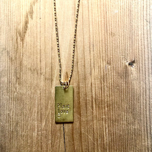 Vertical Brass Rectangle
