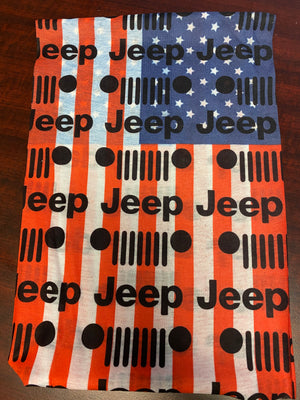 Jeep American Flag - Facemask