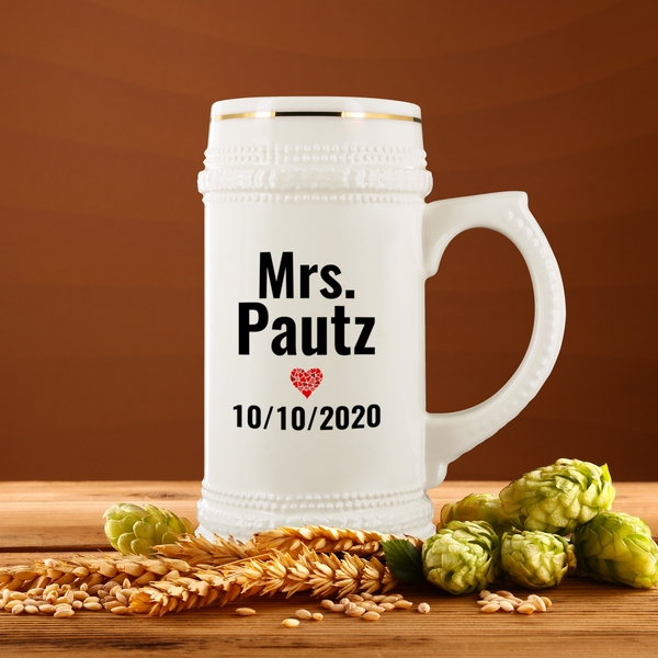 Personalized Beer Stein - Custom Mug Order for Holly Smits - 2 - CustomTeesGifts