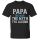 Papa The Man, The Myth, The Legend - Mens T-shirt - Multiple Color - G500 5.3 oz. T-Shirt