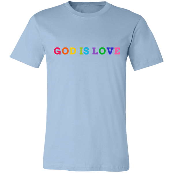 God is Love Tee - 3001C Unisex Jersey Short-Sleeve Christian T-Shirt - CustomTeesGifts