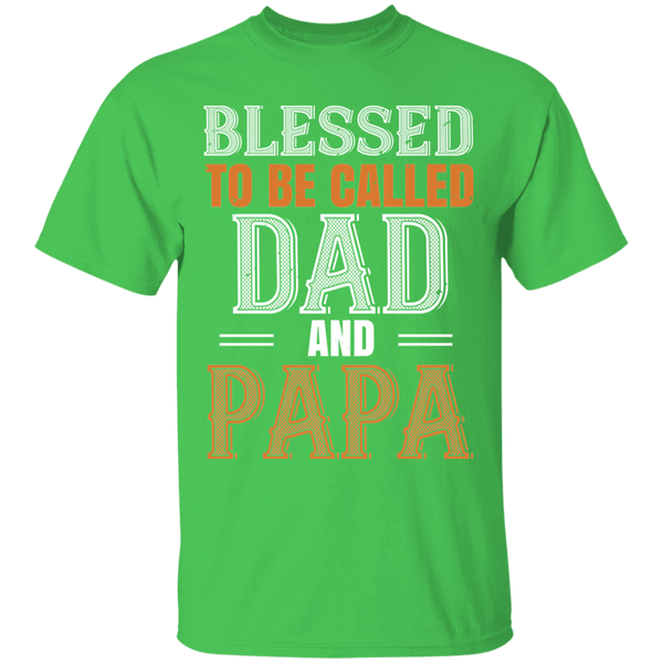 Blessed To Be Called Dad And Papa - Mens T-shirt - Multiple Color - G500 5.3 oz. T-Shirt - CustomTeesGifts