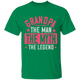 Grandpa The Man The Myth The Legend - G500 5.3 oz. T-Shirt